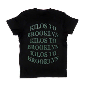 Kilos To Brooklyn Tee in Black and Green