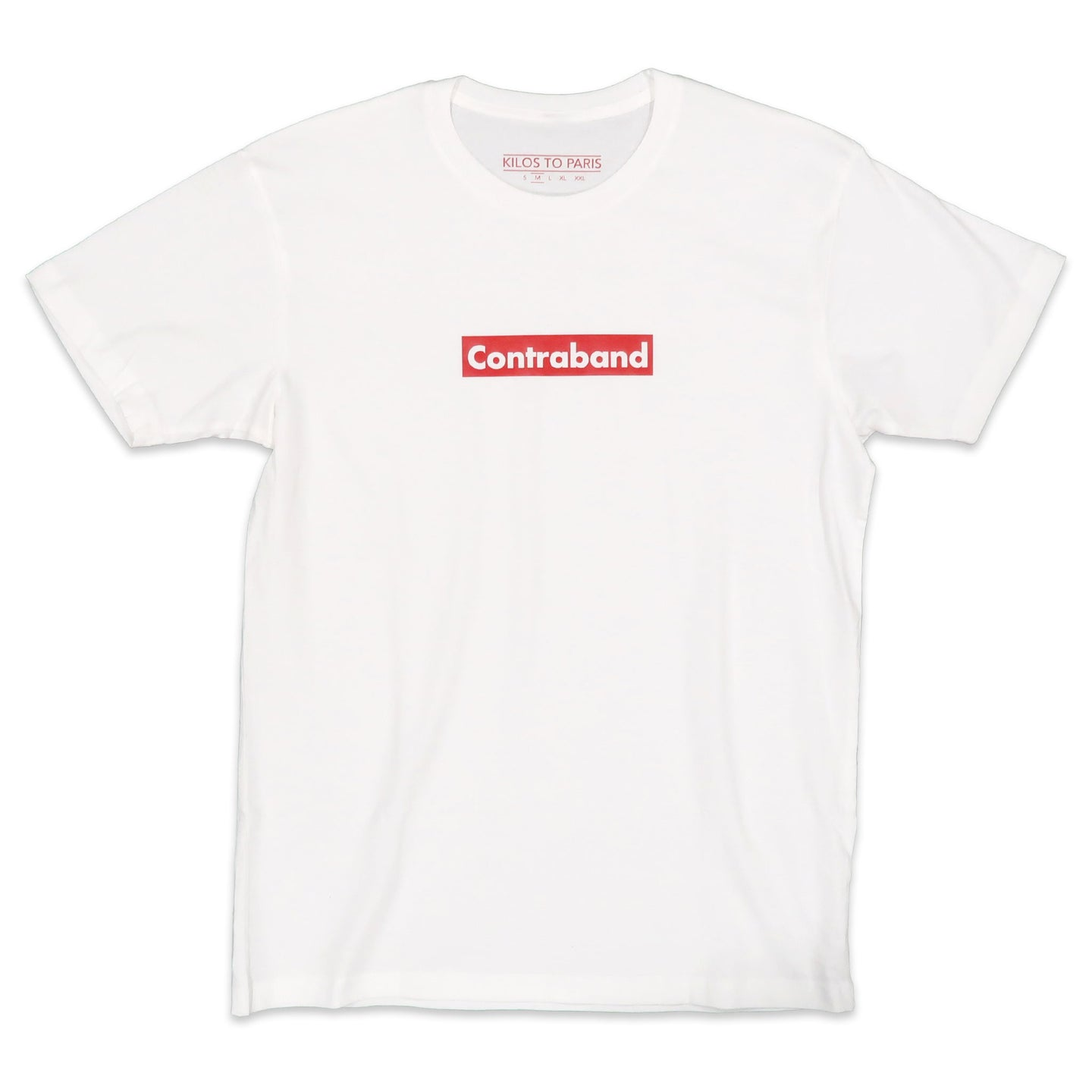 Contraband Block Tee in White and Red