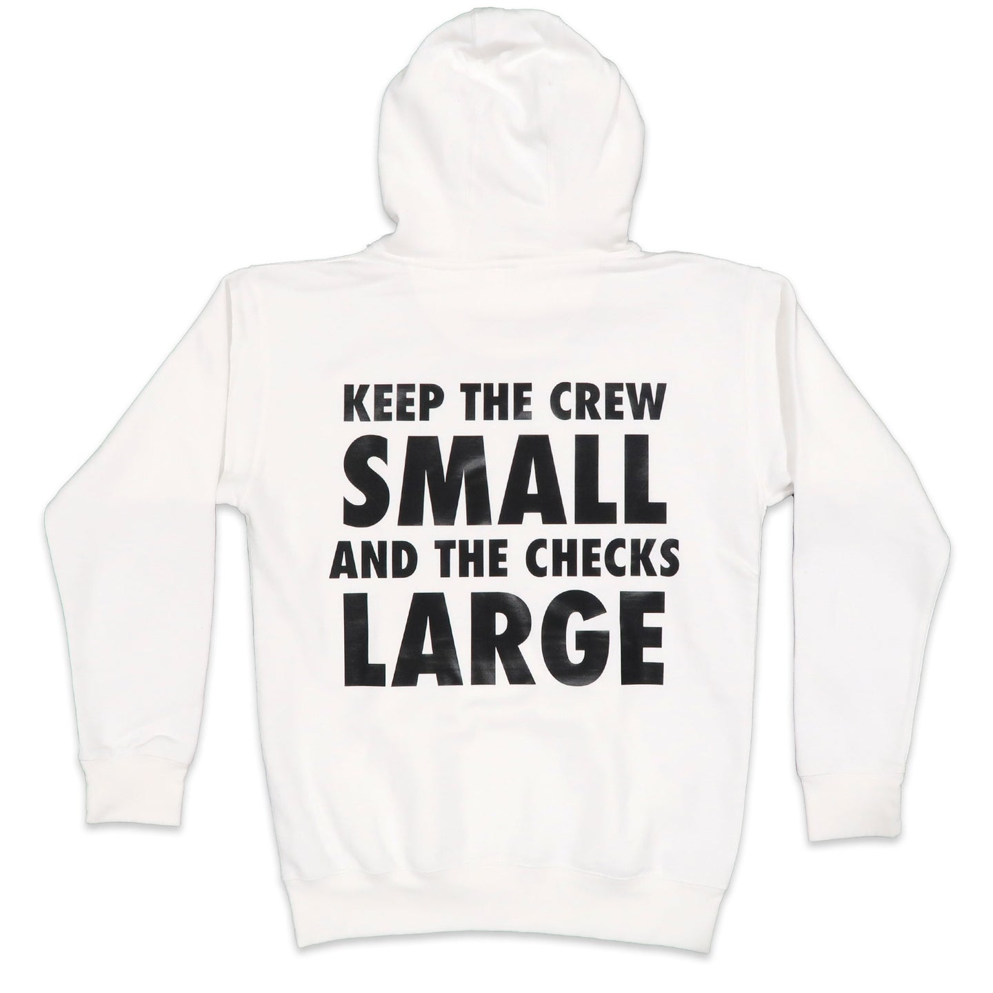 Crew Hoodie in White and Black