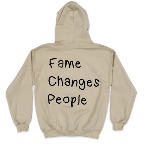 Fame Changes People Hoodie in Khaki