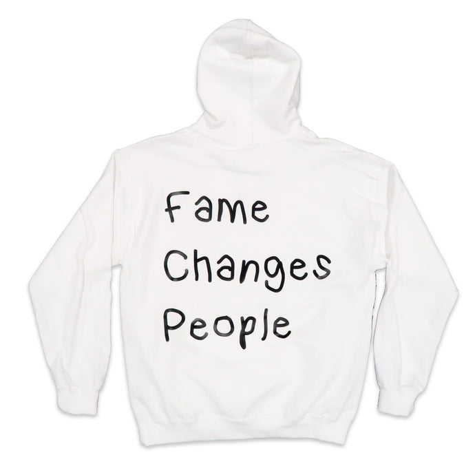 Fame Changes People Hoodie in White and Black