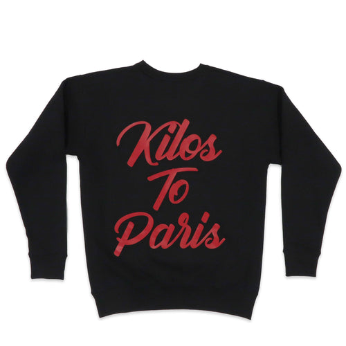Full Send Sweater in Black and Red