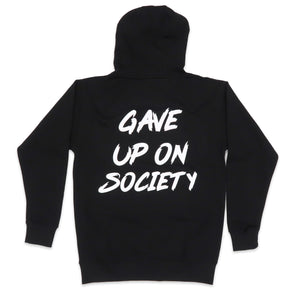 Gave Up on Society Hoodie in Black and White