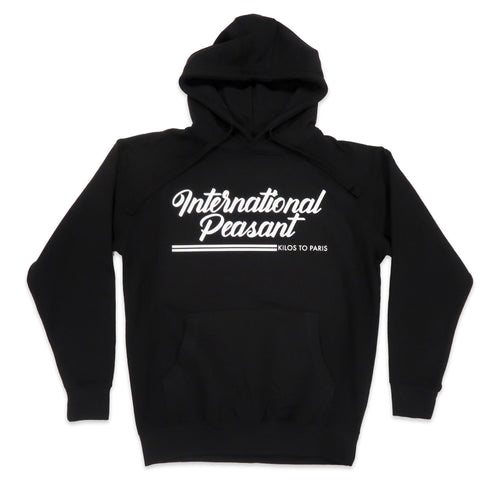International Peasant Hoodie in Black and White