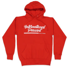 Load image into Gallery viewer, International Peasant Hoodie in Red and White