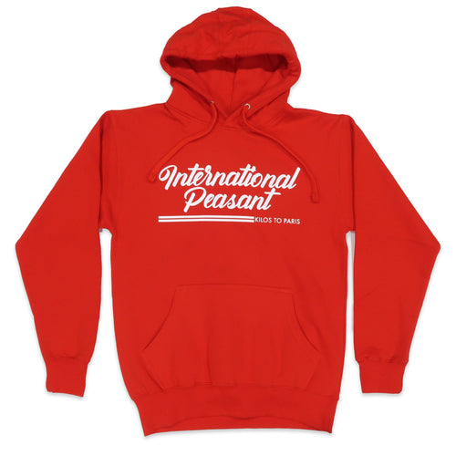 International Peasant Hoodie in Red and White