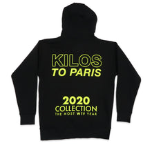 Load image into Gallery viewer, 2020 WTF Hoodie in Black and Neon Yellow