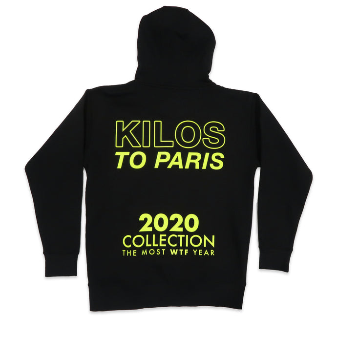 2020 WTF Hoodie in Black and Neon Yellow