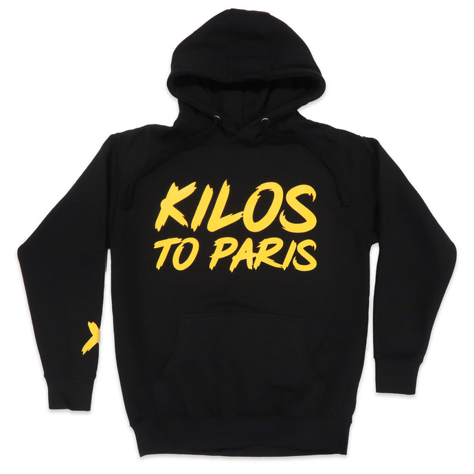 Kilos To Paris V2 Hoodie in Black and Yellow