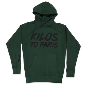 Kilos To Paris V2 Hoodie in Forest and Black