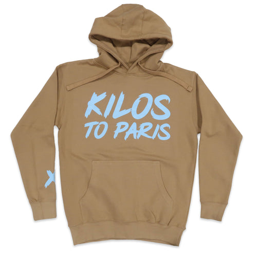 Kilos To Paris V2 Hoodie in Khaki and Light Blue