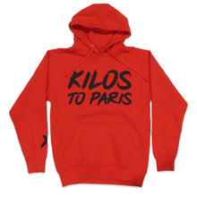 Load image into Gallery viewer, Kilos To Paris V2 Hoodie in Red and Black