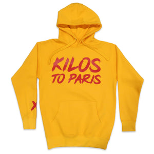 Kilos To Paris V2 Hoodie in Yellow and Red