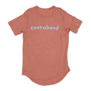 Contraband Kilos Scoop Tee in Rose and Blue