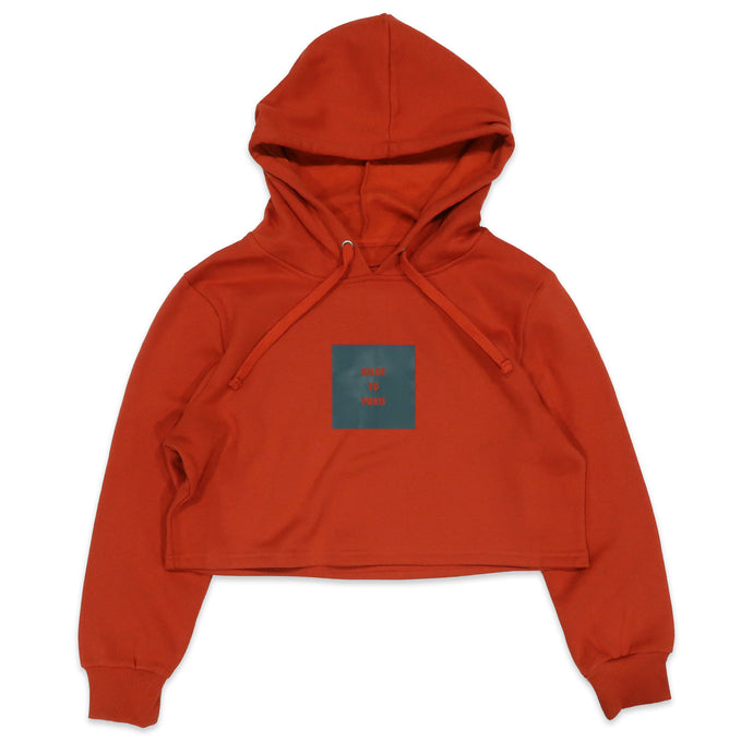 Kilos To Paris Crop Hoodie in Orange