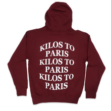 Load image into Gallery viewer, Kilos Hoodie in Burgundy and White