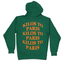 Load image into Gallery viewer, Kilos Hoodie in Green and Orange