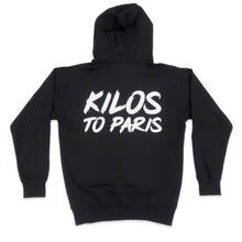 Load image into Gallery viewer, Kilos To Paris Hoodie in Black and White