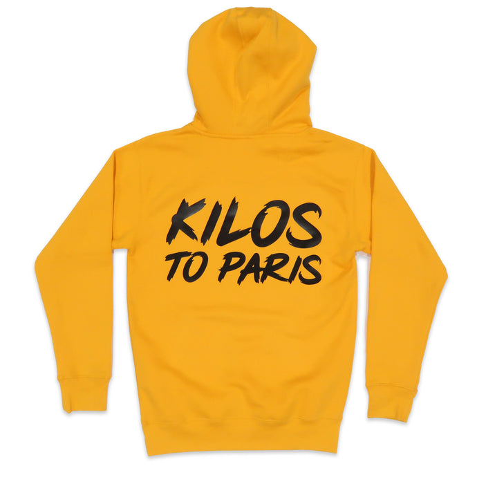 Kilos To Paris Hoodie in Yellow and Black