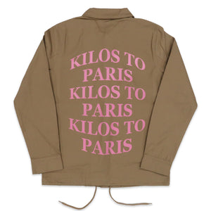 Kilos Coach's Jacket in Khaki and Pink