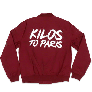 Kilos To Paris Canvas Jacket in Red