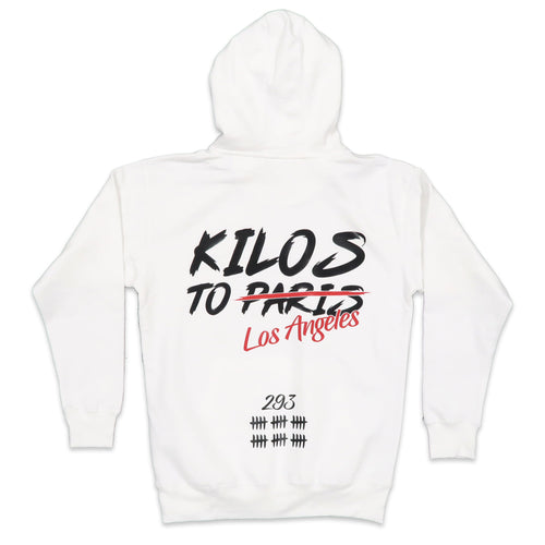 Kilos To Los Angeles Hoodie in White