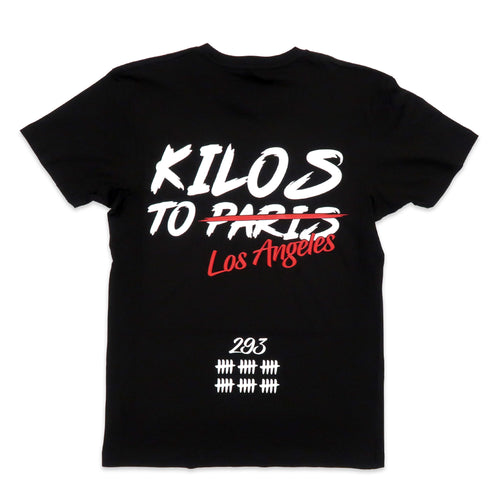 Kilos To Los Angeles Tee in Black