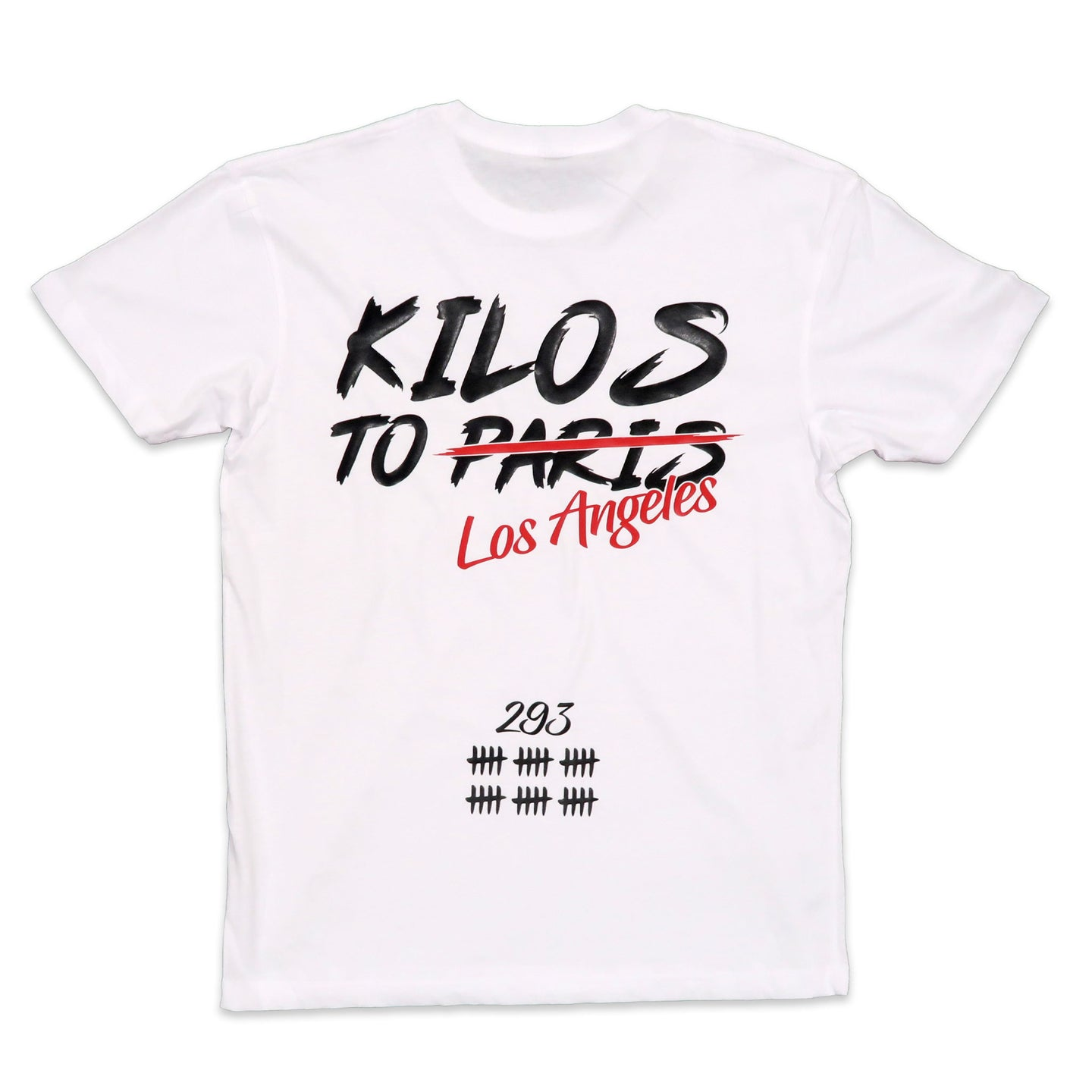 Kilos To Los Angeles Tee in White
