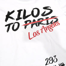 Load image into Gallery viewer, Kilos To Los Angeles Tee in White