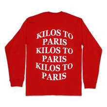 Load image into Gallery viewer, Kilos Long Sleeve Tee in Red