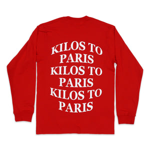Kilos Long Sleeve Tee in Red