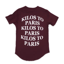 Load image into Gallery viewer, Kilos Scoop Tee in Burgundy