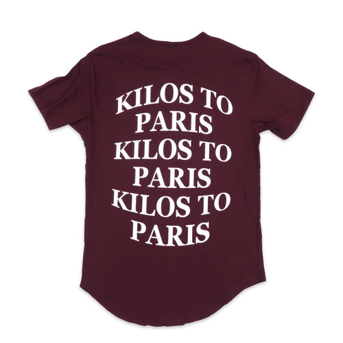 Kilos Scoop Tee in Burgundy