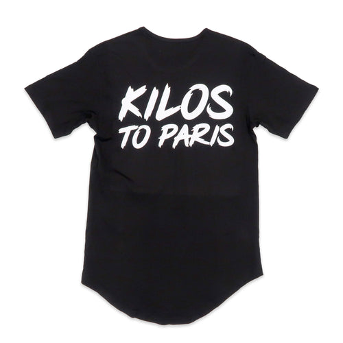 Kilos To Paris Scoop Tee in Black and White