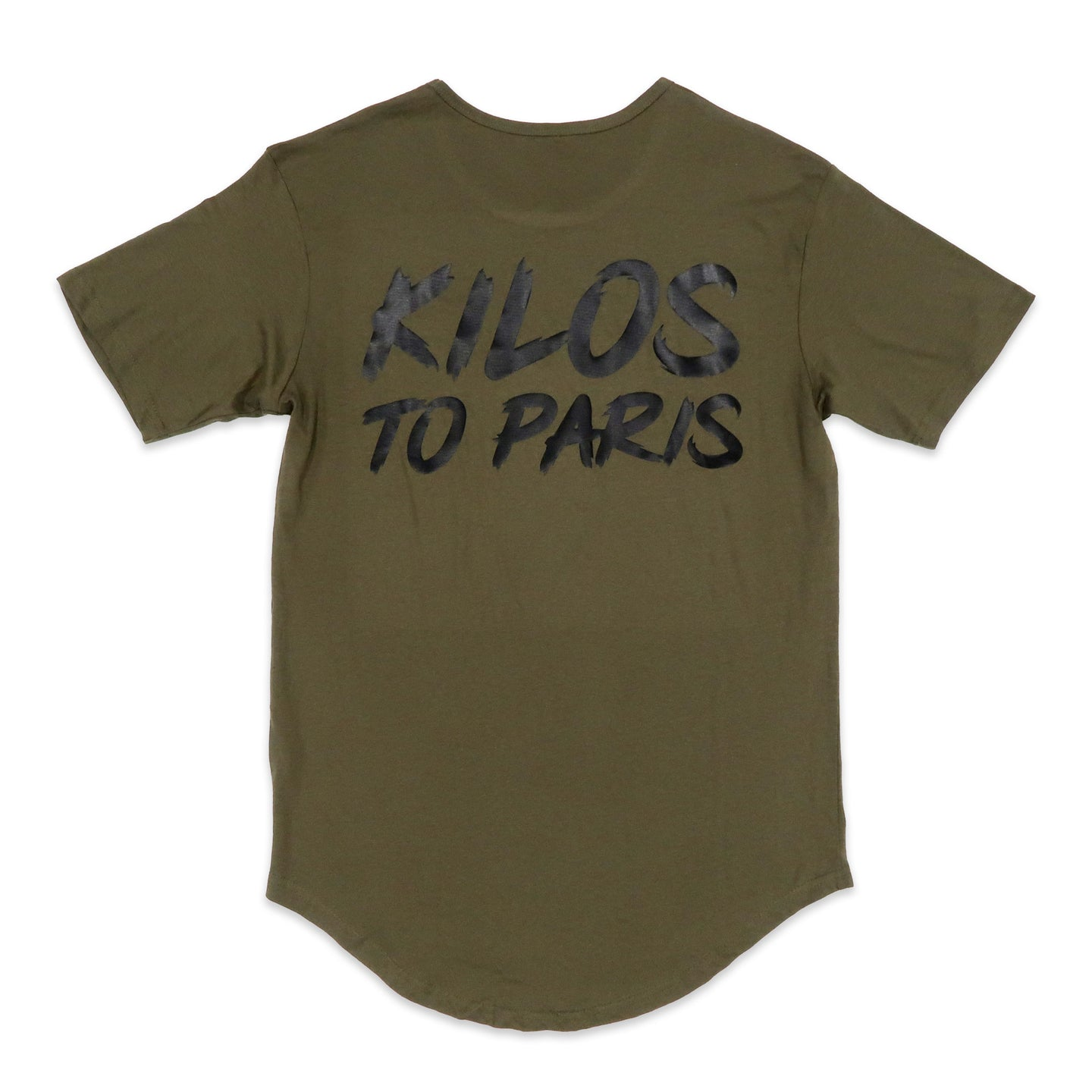 Kilos To Paris Scoop Tee in Olive
