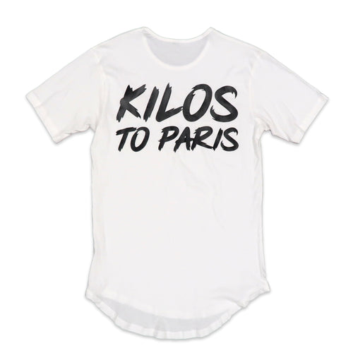 Kilos To Paris Scoop Tee in White and Black