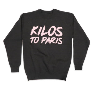 Kilos To Paris Sweater in Charcoal and Pink