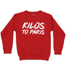 Load image into Gallery viewer, Kilos To Paris Sweater in Red and White