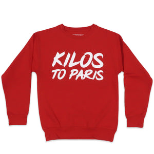 Kilos To Paris Sweater in Red and White