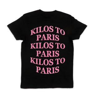 Kilos Basic Tee in Black and Pink