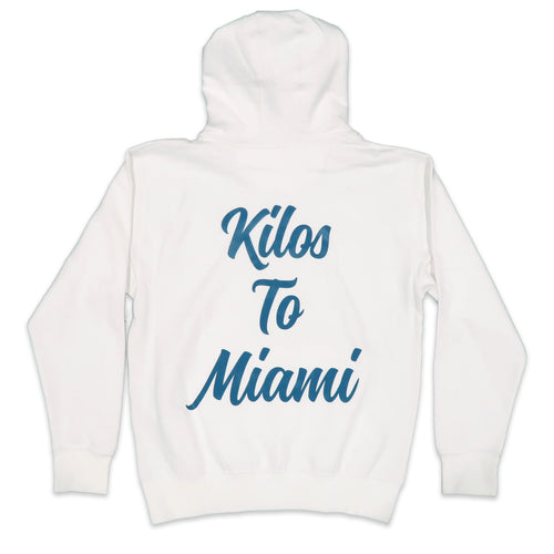 Kilos To Miami Hoodie in White