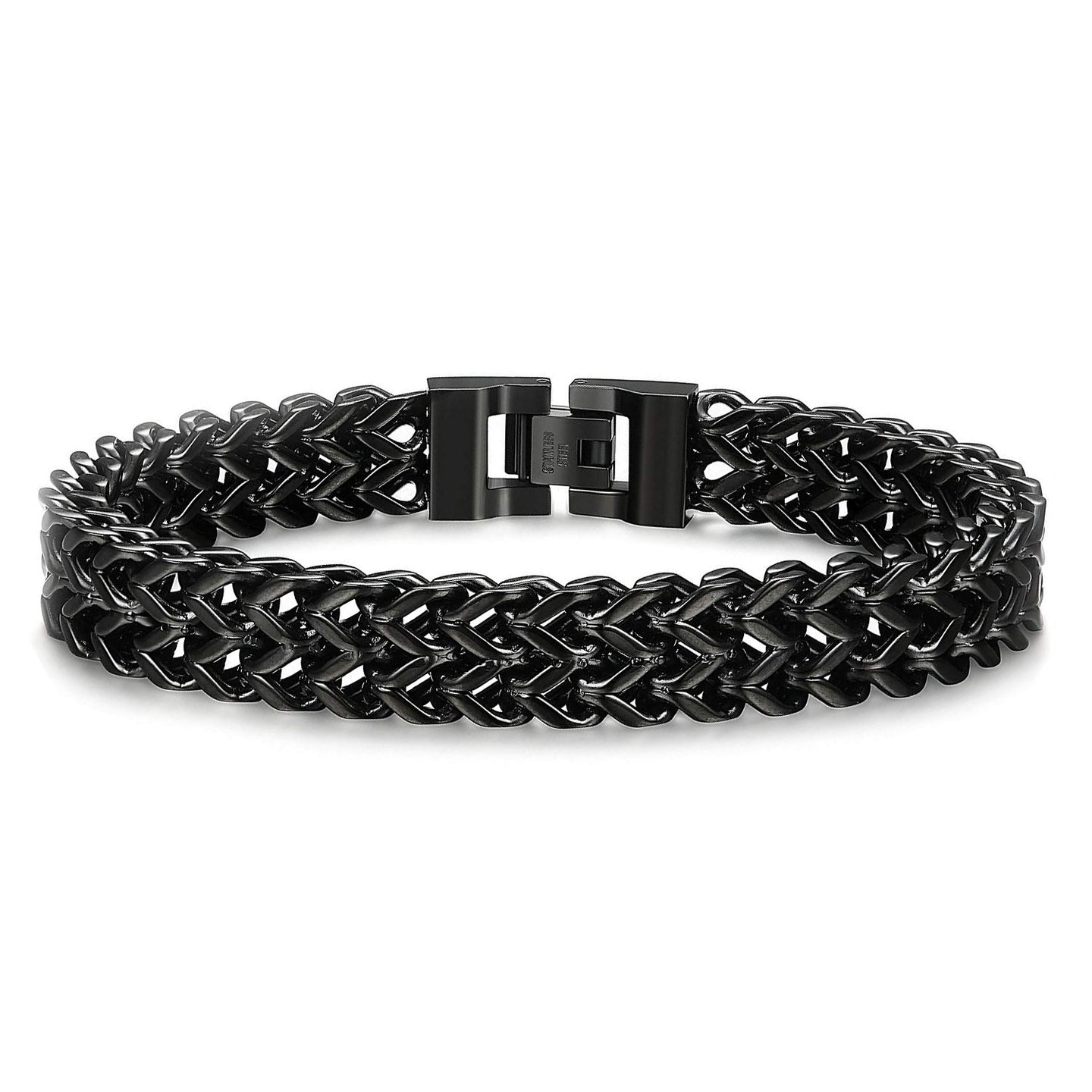 Wheat Chain Bracelet in Black