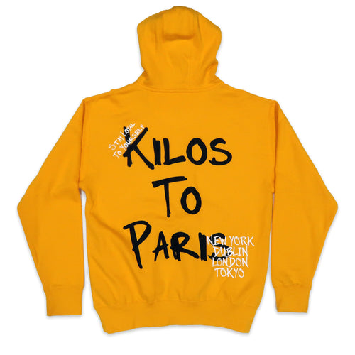 Kilos in The Dark Hoodie in Yellow