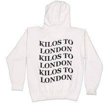 Load image into Gallery viewer, Kilos To London Hoodie in White