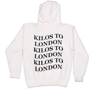 Kilos To London Hoodie in White