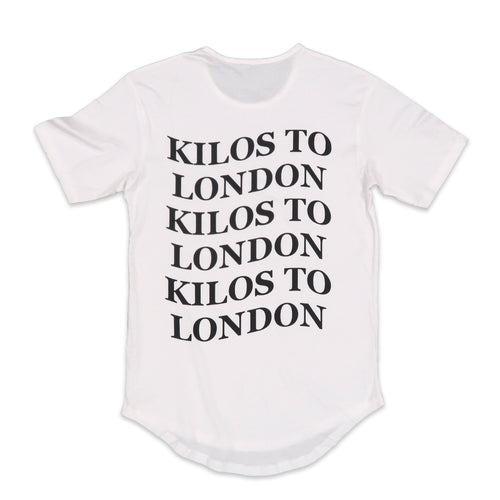 Kilos To London Scoop Tee in White