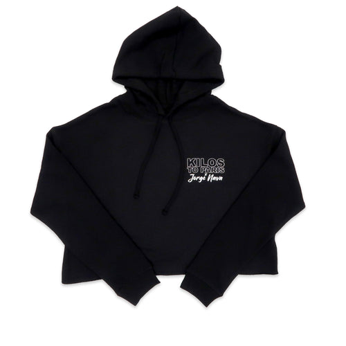 Kilos To Paris x Jorge Nava Crop Hoodie in Black
