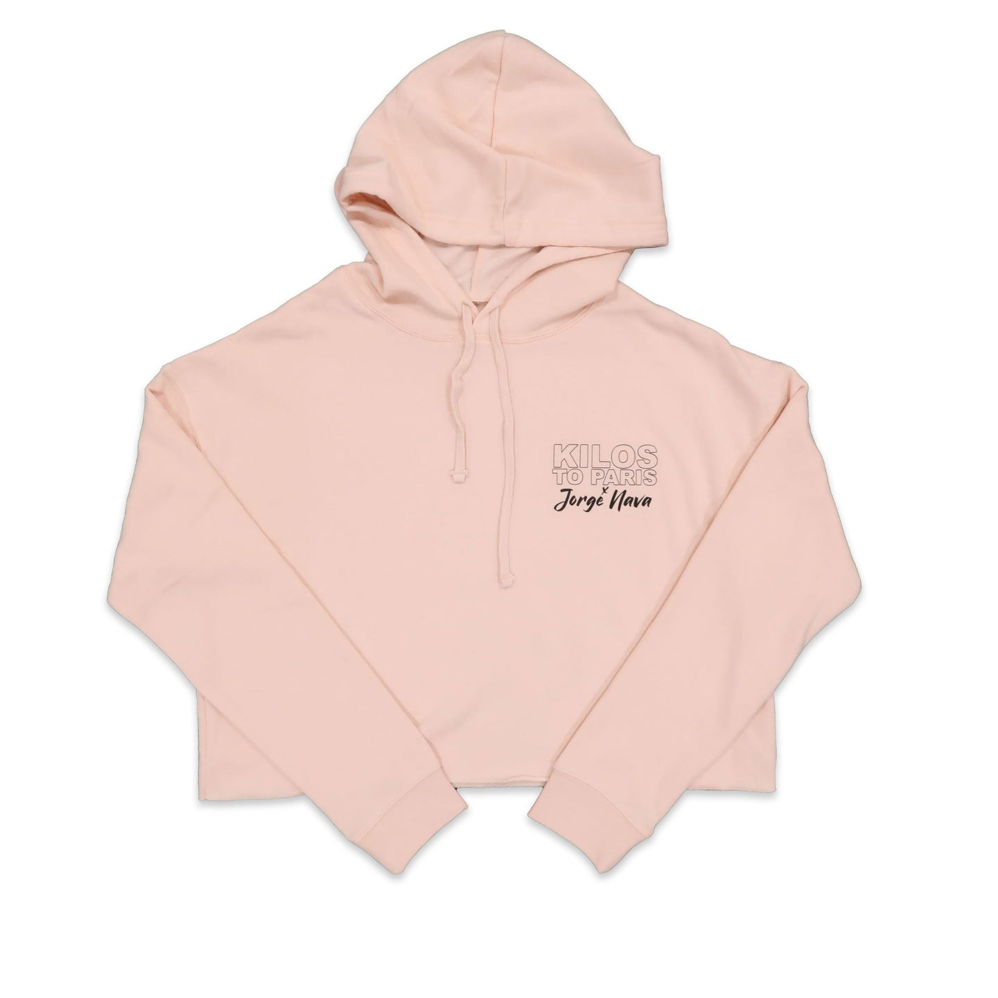 Kilos To Paris x Jorge Nava Crop Hoodie in Blush