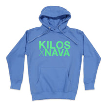 Load image into Gallery viewer, Kilos X Nava Hoodie in Blue and Green