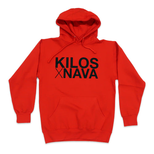 Kilos X Nava Hoodie in Red and Black
